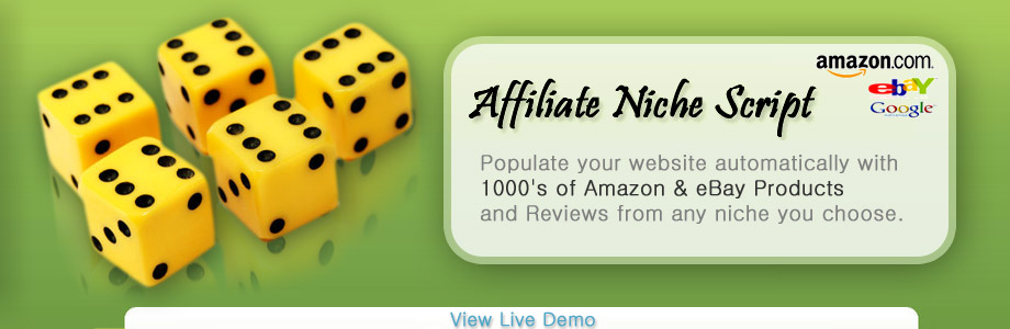 Affiliate Niche Script - Amazon and eBay products